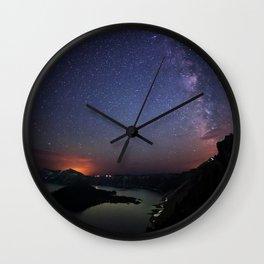 Crater Lake Galaxy Wall Clock