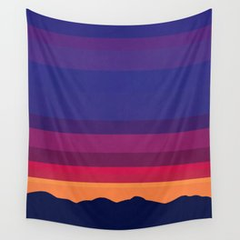 Over The Sunset Mountains Wall Tapestry