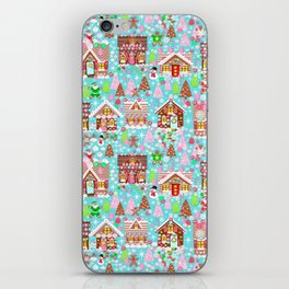 Christmas Village made of Gingerbread iPhone Skin