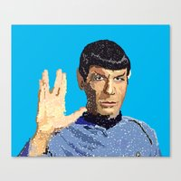 spock Canvas Prints featuring Spock by Connor Corbett