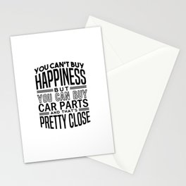 Happiness is car parts Stationery Cards