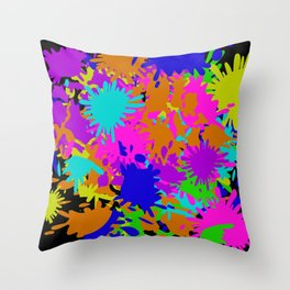 Splatoon Ink Fight Pattern Throw Pillow