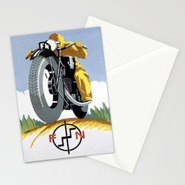 1925 FN Motorcycle Fabrique Nationale de Herstal Vintage Poster  Stationery Cards
