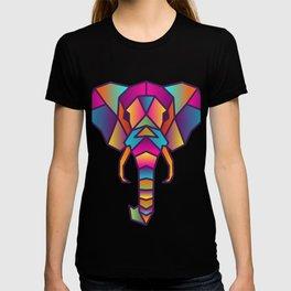 Elephant   Geometric Colorful Low Poly Animal Set T-shirt