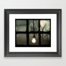 Light In The Window Framed Art Print