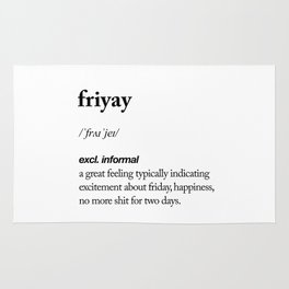 Friyay black and white contemporary minimalism typography design home wall decor bedroom Rug