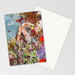 Pale Orange Dragon Nudibranch & purple crab Stationery Cards