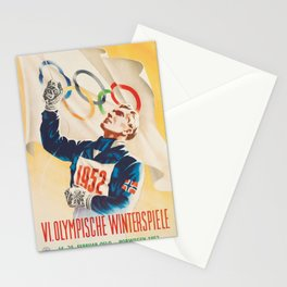 Oslo Winter Games 1952 Stationery Cards