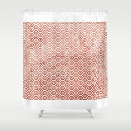 Mandarin Trellis Pattern Shower Curtain