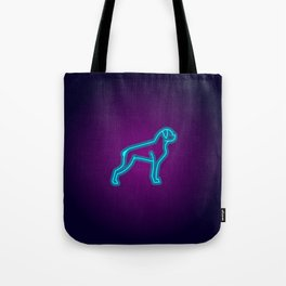 NEON BOXER DOG Tote Bag
