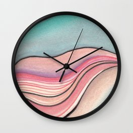 Pastel Marble Wall Clock