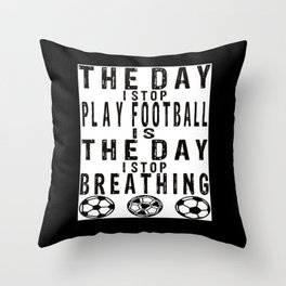 Soccer Footballer Soccer Team Soccer Ball Throw Pillow