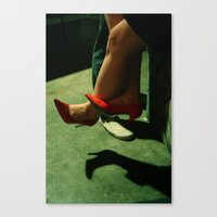 heels Canvas Prints featuring heels by katie g. jones /// wren papers