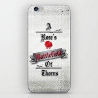 battlefield iPhone & iPod Skins featuring A Rose's Battlefield by Daniella Gallistl