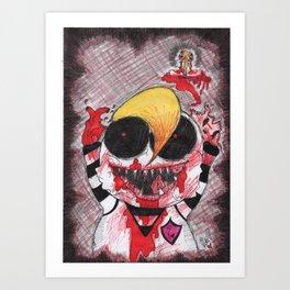 Diddums Likes The Colour DEAD! - Venus de Vilo Art Print