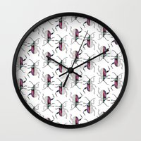 beetle Wall Clocks featuring Beetle by Bekka Kate Art