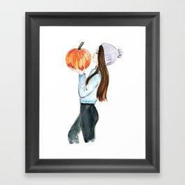 pumpkin spice everything Framed Art Print