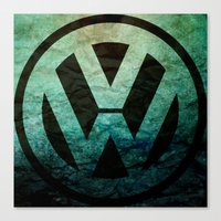 vw Canvas Prints featuring #VW  by Candace Fowler Ink&Co.