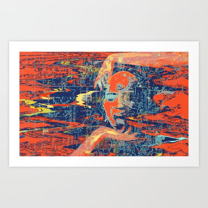 Breaking the Grid Art Print