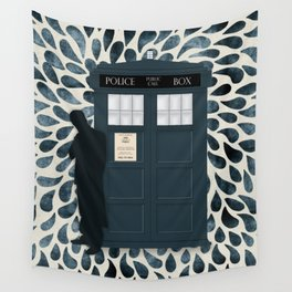 Dr Who and his Timey-Wimey Vehicle Wall Tapestry