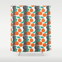 Citrus and Stripes Shower Curtain