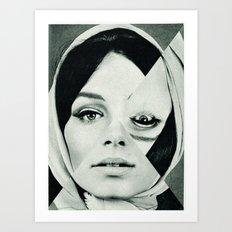 Frau mit Dreieck 2 Art Print