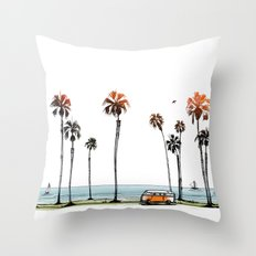 LA love  Throw Pillow