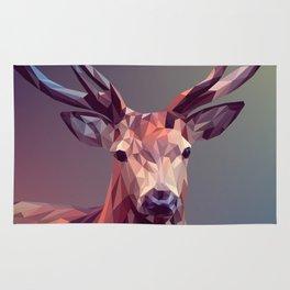 Abstract geometric deer art Rug