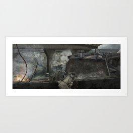 Destroyed City Art Print