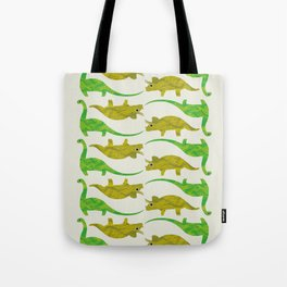 Paper Dino Tote Bag