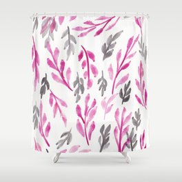 180726 Abstract Leaves Botanical 3|Botanical Illustrations Shower Curtain