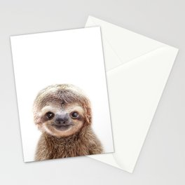 Baby Sloth, Baby Animals Art Print By Synplus Stationery Cards