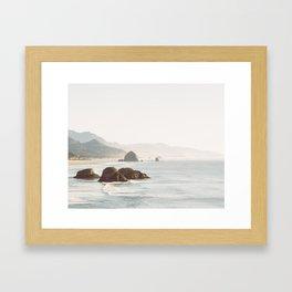 overlooking cannon beach Framed Art Print