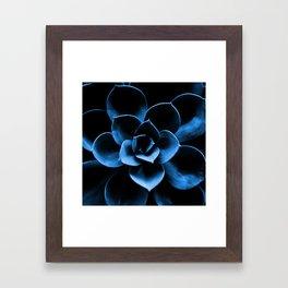 Dark Blue Succulent Plant #decor #society6 #homedecor Framed Art Print