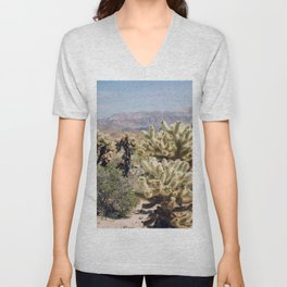 Joshua Tree Cactus Garden Unisex V-Neck
