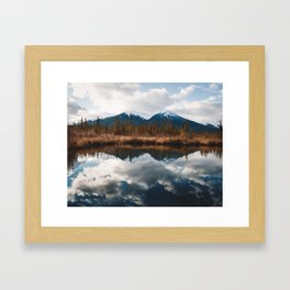 Vermillion Lakes II Framed Art Print