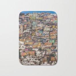 Winter Cityscape of Shimla, India by Jeanpaul Ferro Bath Mat