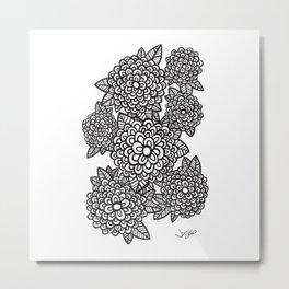 Graphic Bouquet LITE Metal Print