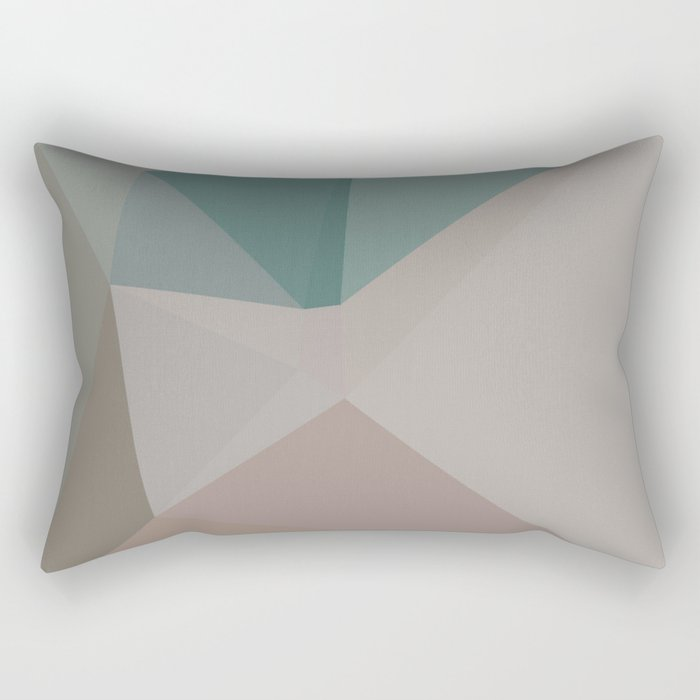 Spring Pastels - Geometric Art by Fluid Nature Rectangular Pillow