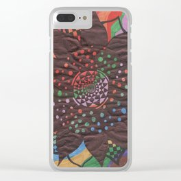 Colorful background with flower Clear iPhone Case