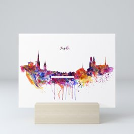 Zurich Skyline Mini Art Print