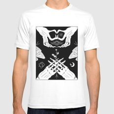 Moth White Mens Fitted Tee LARGE