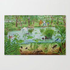 A Day of Forest (4). (the lake ecosystem) Canvas Print