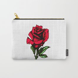 Rose Pyrography c. Carry-All Pouch