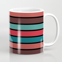 Multicolored Stripes: Berry Colors Coffee Mug