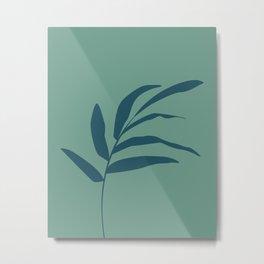 Teal tree branch Metal Print