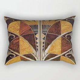 Art nouveau,Original wood work, elevator door, NYC Building Rectangular Pillow