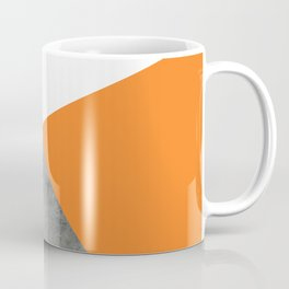 Concrete Tangerine White Coffee Mug