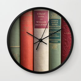 Old Books - Square Wall Clock