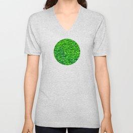 Deep Green Ivy Wall. Unisex V-Neck